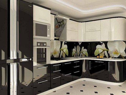 Маленькую угловую кухню