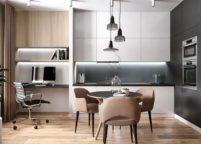 кухня студия на заказ - 37