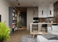 кухня студия на заказ - 43