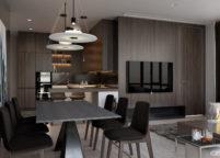 кухня студия на заказ - 75
