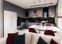 кухня студия на заказ - 81