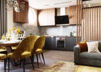 кухня студия на заказ - 113