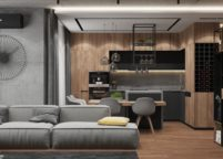 кухня студия на заказ - 139