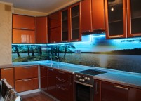 Кухня с подсветкой - 4