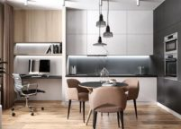 кухня с подсветкой - 12