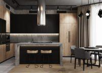кухня с подсветкой - 7