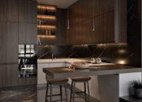 кухня с подсветкой - 6