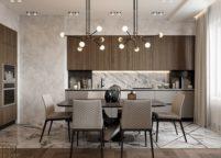 кухня с подсветкой - 25