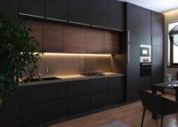 кухня с подсветкой - 10