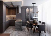 кухня с подсветкой - 26