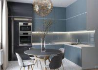 кухня с подсветкой - 28