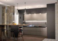 кухня с подсветкой - 30
