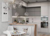 кухня с подсветкой - 31
