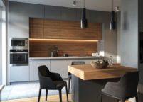 кухня с подсветкой - 34