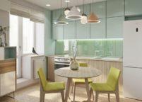 кухня с подсветкой - 36