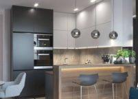 кухня с подсветкой - 14