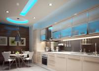 Кухня с подсветкой - 21
