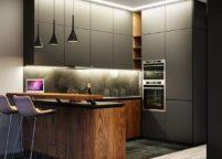 кухня с подсветкой - 33