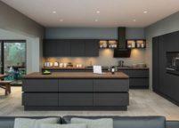 кухня с подсветкой - 37