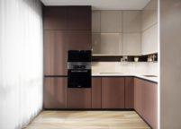 кухня с подсветкой - 43