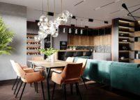 кухня с подсветкой - 44
