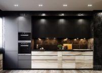 кухня с подсветкой - 45