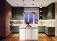 кухня с подсветкой - 47