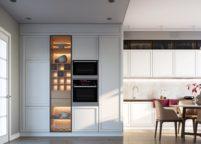 кухня с подсветкой - 48