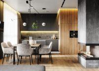 кухня с подсветкой - 8
