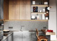 кухня с подсветкой - 38