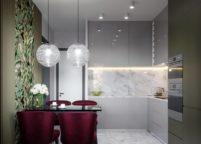 кухня с подсветкой - 41