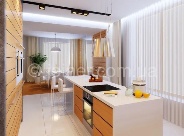 Кухня с полуостровом дизайн фото