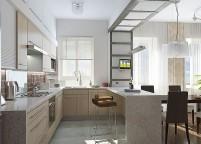 кухня с островом - 70