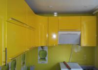 Кухня желтая мдф глянец - 1
