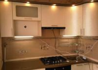 Кухня, мдф пленка, витрина, подсветка - 5