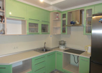 Угловая кухня фисташка - 10