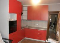 Кухня красная мат - 28