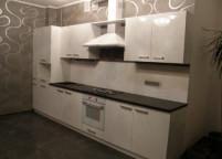Кухня прямвя белая - 32