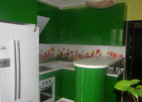 Кухня лакобель зеленая - 33