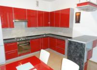 Кухня красный пластик - 34