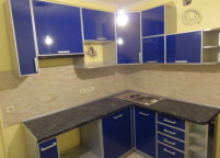 Кухня синяя пластик - 46