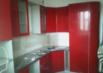 Кухня красная краска мдф - 53