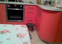 Кухня розовая пленка - 57