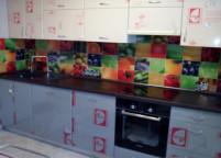 Кухня пластик скинали - 65