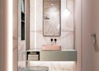 мебель в ванную - 75